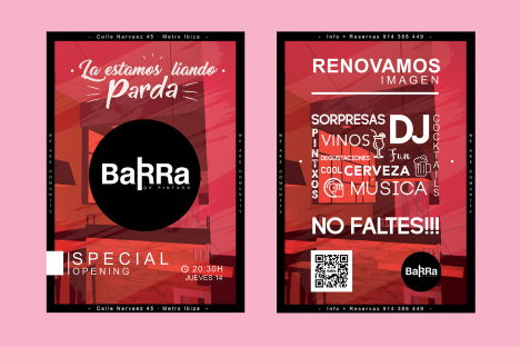 Flyer modo Barra